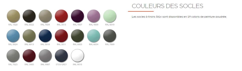 couleur socle 16 STUV